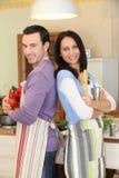 Pares estados na cozinha Imagens de Stock