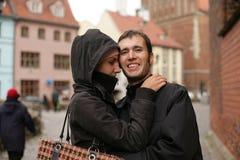 Pares europeos jovenes Foto de archivo libre de regalías