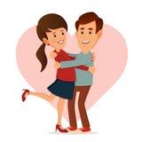 Pares felices Día de tarjeta del día de San Valentín Imagen de archivo
