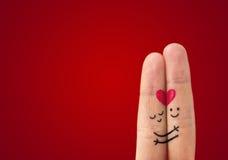 Pares felices de Ð en amor Fotos de archivo libres de regalías