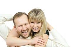 Pares felices de la familia Imagen de archivo libre de regalías