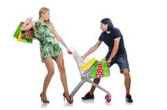 Pares felices de la familia de esposa y de marido Fotos de archivo libres de regalías