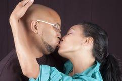 Pares felices del afroamericano Imágenes de archivo libres de regalías