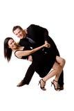 Pares felices del baile Imágenes de archivo libres de regalías