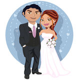 Pares jovenes de la boda ilustración del vector