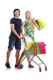 Pares felizes da família de esposa e de marido Fotografia de Stock Royalty Free