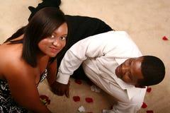 Pares felizes do americano africano Fotos de Stock