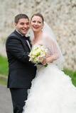 Pares felizes do casamento Fotos de Stock Royalty Free