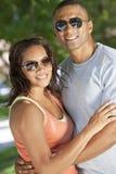 Pares felizes do homem & da mulher do americano africano imagens de stock royalty free