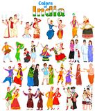 Pares felizes dos estados diferentes de Índia ilustração stock