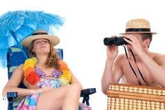 Pares felizes, férias Imagens de Stock