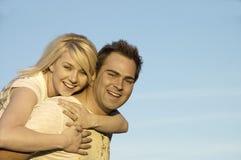 Pares felizes junto Imagens de Stock Royalty Free