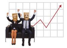 Pares felizes na tendência Fotografia de Stock