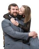 Pares felizes no amor Fotos de Stock Royalty Free