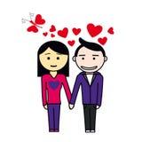 Pares felizes novos no amor Fotografia de Stock Royalty Free
