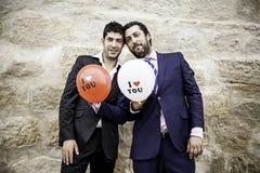 Pares gay en amor Foto de archivo