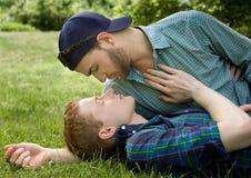 Pares gay sensuales Imagenes de archivo