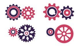 Pares giratorios del engranaje de diversas configuraciones stock de ilustración