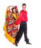 Pares gitanos del bailarín del flamenco Fotografía de archivo