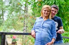 Pares grávidos Fotografia de Stock