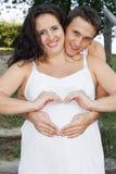 Pares grávidos Fotos de Stock Royalty Free