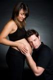 Pares grávidos Imagens de Stock Royalty Free