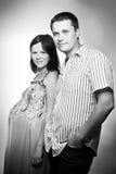 Pares grávidos caucasianos novos Fotos de Stock