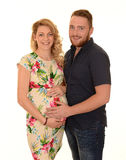 Pares grávidos de sorriso Foto de Stock Royalty Free