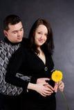 Pares grávidos felizes Imagem de Stock Royalty Free