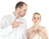 Pares hermosos de la boda Imagen de archivo libre de regalías