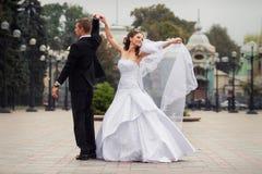 Pares hermosos de la boda Foto de archivo