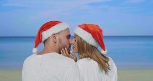 Pares hermosos de la playa de la Navidad Fotografía de archivo libre de regalías
