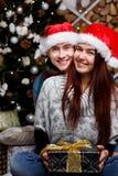 Pares hermosos en Año Nuevo Fotografía de archivo libre de regalías