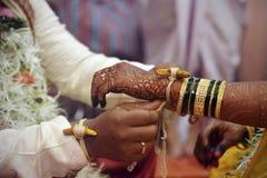 Pares hindúes de la unión Imagen de archivo