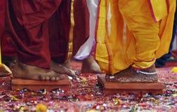 Pares hindúes de la unión Fotos de archivo
