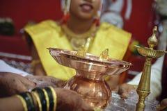 Pares hindúes de la unión Foto de archivo libre de regalías