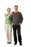 Pares: Homem e mulher que estão junto Foto de Stock Royalty Free