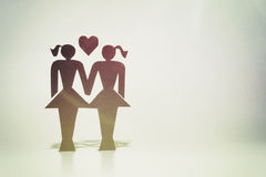 Pares homossexuais, estatuetas, matrimônio homossexual Imagens de Stock
