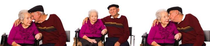 Pares idosos Imagem de Stock Royalty Free