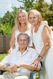 Pares idosos e sua filha Imagem de Stock Royalty Free