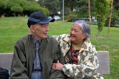 Pares idosos felizes Fotografia de Stock