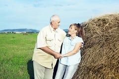Pares idosos felizes exteriores Foto de Stock