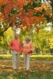 Pares idosos na laranja Foto de Stock Royalty Free