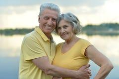 Pares idosos na natureza Imagens de Stock Royalty Free