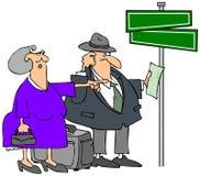 Pares idosos perdidos ilustração royalty free