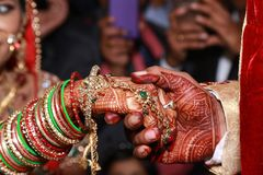 Pares indianos do casamento Imagem de Stock Royalty Free