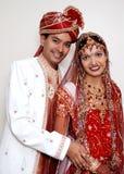 Pares indianos lindos Fotografia de Stock