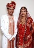 Pares indios de la boda Imagen de archivo libre de regalías