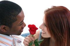 Pares interraciales de Atractive Fotografía de archivo