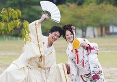 Pares japoneses Imagen de archivo libre de regalías